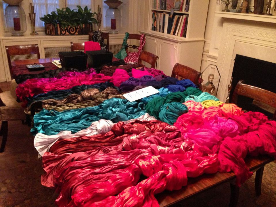 tsao scarves table