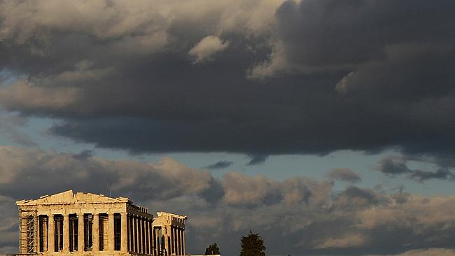 parthenon clouds