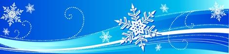 snowflake blue banner